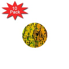 Gentle Yellow Abstract Art 1  Mini Magnet (10 Pack)  by Valentinaart
