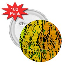 Gentle Yellow Abstract Art 2 25  Buttons (100 Pack)  by Valentinaart