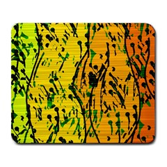 Gentle Yellow Abstract Art Large Mousepads by Valentinaart