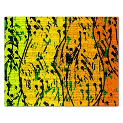 Gentle Yellow Abstract Art Rectangular Jigsaw Puzzl by Valentinaart