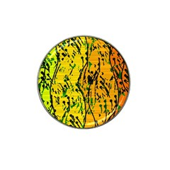 Gentle Yellow Abstract Art Hat Clip Ball Marker by Valentinaart
