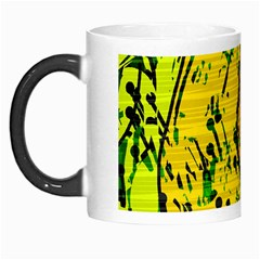 Gentle Yellow Abstract Art Morph Mugs by Valentinaart