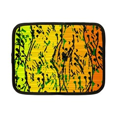Gentle Yellow Abstract Art Netbook Case (small)  by Valentinaart