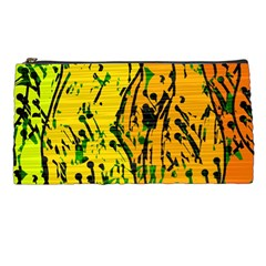 Gentle Yellow Abstract Art Pencil Cases by Valentinaart