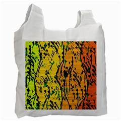 Gentle Yellow Abstract Art Recycle Bag (one Side) by Valentinaart