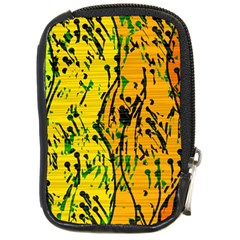 Gentle Yellow Abstract Art Compact Camera Cases by Valentinaart