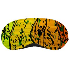 Gentle Yellow Abstract Art Sleeping Masks by Valentinaart
