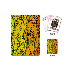 Gentle Yellow Abstract Art Playing Cards (mini)  by Valentinaart