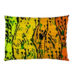 Gentle Yellow Abstract Art Pillow Case (two Sides)