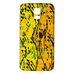 Gentle Yellow Abstract Art Samsung Galaxy S5 Back Case (white) by Valentinaart