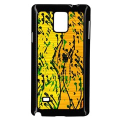 Gentle Yellow Abstract Art Samsung Galaxy Note 4 Case (black) by Valentinaart