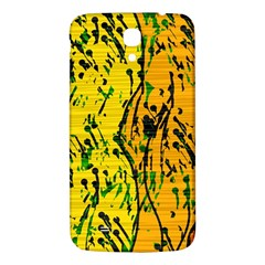 Gentle Yellow Abstract Art Samsung Galaxy Mega I9200 Hardshell Back Case by Valentinaart
