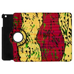 Maroon And Ocher Abstract Art Apple Ipad Mini Flip 360 Case by Valentinaart