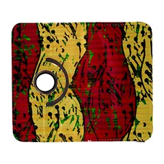 Maroon And Ocher Abstract Art Samsung Galaxy S  Iii Flip 360 Case by Valentinaart