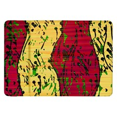 Maroon And Ocher Abstract Art Samsung Galaxy Tab 8 9  P7300 Flip Case by Valentinaart