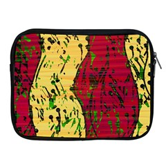 Maroon And Ocher Abstract Art Apple Ipad 2/3/4 Zipper Cases by Valentinaart