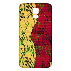 Maroon And Ocher Abstract Art Samsung Galaxy S5 Back Case (white) by Valentinaart