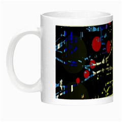 Blue Confusion Night Luminous Mugs by Valentinaart