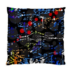 Blue Confusion Standard Cushion Case (one Side) by Valentinaart