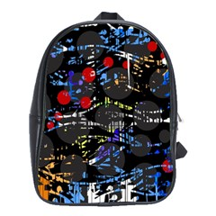 Blue Confusion School Bags(large)  by Valentinaart