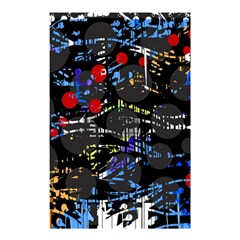 Blue Confusion Shower Curtain 48  X 72  (small)  by Valentinaart