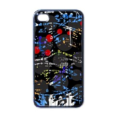 Blue Confusion Apple Iphone 4 Case (black)
