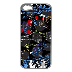 Blue Confusion Apple Iphone 5 Case (silver) by Valentinaart