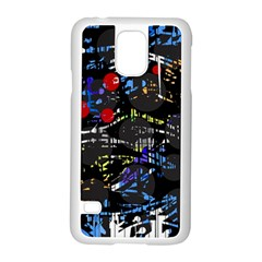 Blue Confusion Samsung Galaxy S5 Case (white) by Valentinaart