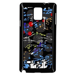 Blue Confusion Samsung Galaxy Note 4 Case (black) by Valentinaart