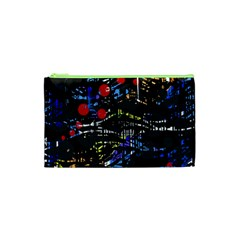 Blue Confusion Cosmetic Bag (xs) by Valentinaart