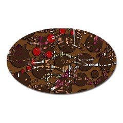 Brown Confusion Oval Magnet