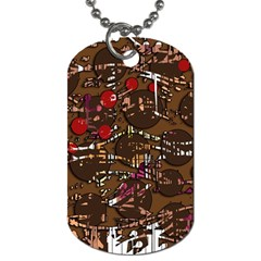 Brown Confusion Dog Tag (two Sides) by Valentinaart