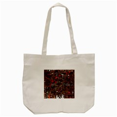 Brown Confusion Tote Bag (cream) by Valentinaart