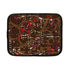 Brown Confusion Netbook Case (small)  by Valentinaart