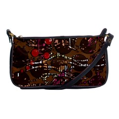 Brown Confusion Shoulder Clutch Bags by Valentinaart