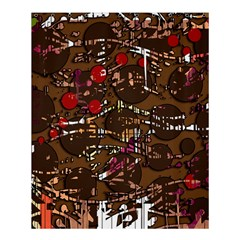 Brown Confusion Shower Curtain 60  X 72  (medium)  by Valentinaart