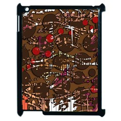 Brown Confusion Apple Ipad 2 Case (black) by Valentinaart