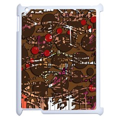 Brown Confusion Apple Ipad 2 Case (white) by Valentinaart