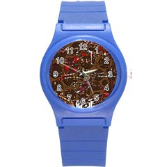 Brown Confusion Round Plastic Sport Watch (s) by Valentinaart