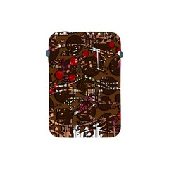 Brown Confusion Apple Ipad Mini Protective Soft Cases by Valentinaart
