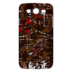Brown Confusion Samsung Galaxy Mega 5 8 I9152 Hardshell Case  by Valentinaart