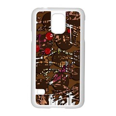 Brown Confusion Samsung Galaxy S5 Case (white) by Valentinaart
