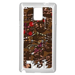 Brown Confusion Samsung Galaxy Note 4 Case (white)