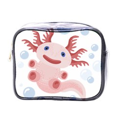 Axolotl Natural Tshirt Mini Toiletries Bags by XOOXOO