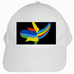 Abstraction Banana White Cap by AnjaniArt