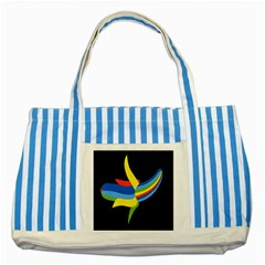 Abstraction Banana Striped Blue Tote Bag