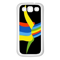 Abstraction Banana Samsung Galaxy S3 Back Case (white)