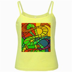 Abstrak Yellow Spaghetti Tank
