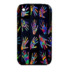 Art With Your Hand Apple Iphone 3g/3gs Hardshell Case (pc+silicone)