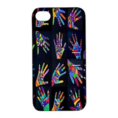 Art With Your Hand Apple Iphone 4/4s Hardshell Case With Stand by AnjaniArt